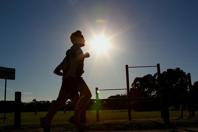 Courir en plein soleil est difficile. Crédit photo : Will Ockenden.